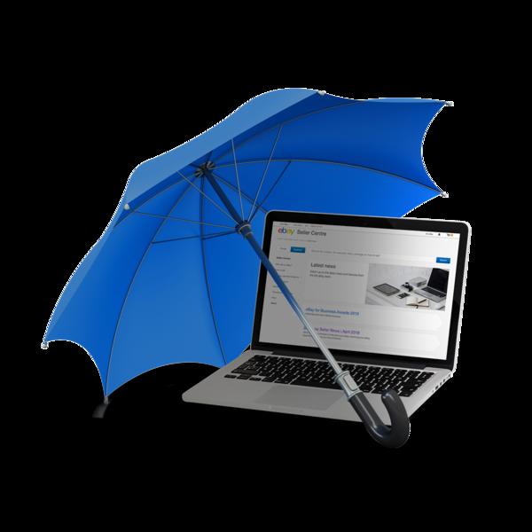 Schirm über Laptop