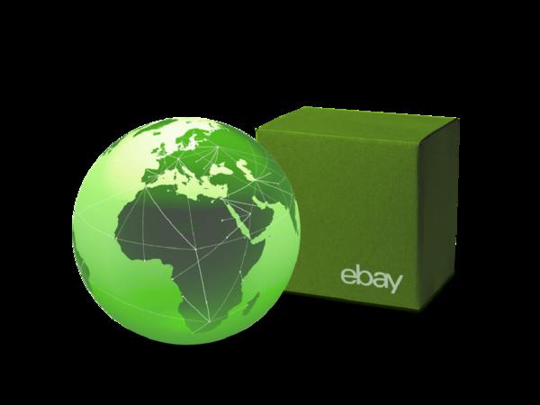 Globo terrestre e logo eBay