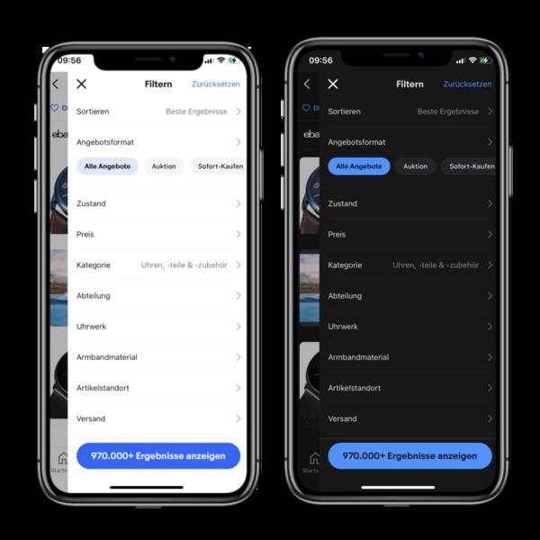 Artikelmerkmale Filter mobile