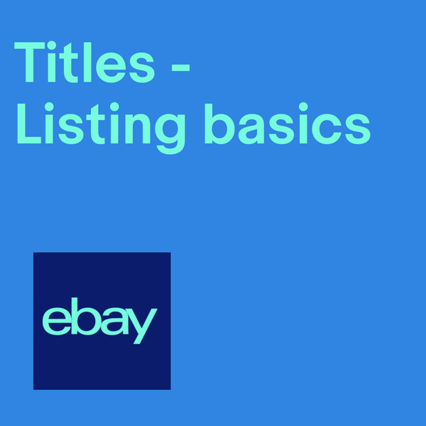 Give listings effective titles