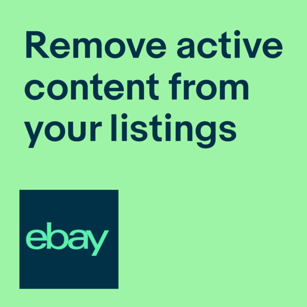 Remove active content from listings