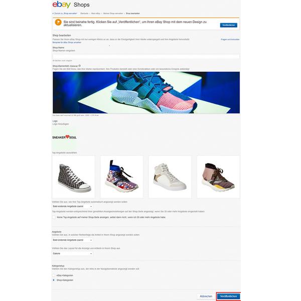 Screenshot - eBAy Shop bearbeiten