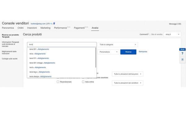 screenshot Console venditori