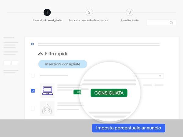screenshot oggetti consigliati