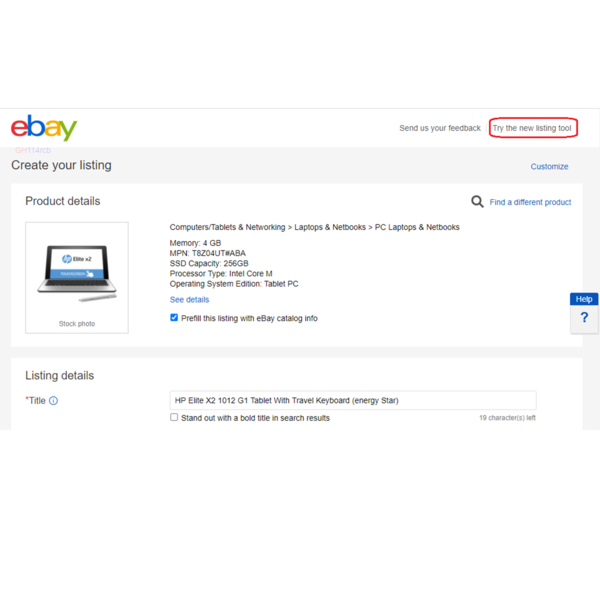 Try out the unified listing experience on UK eBay