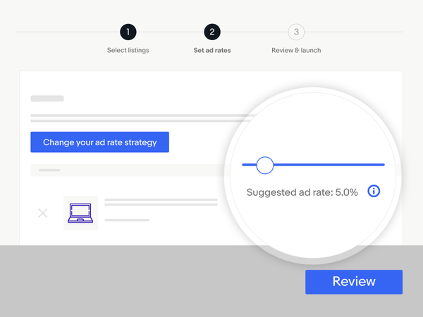 Try our suggested ad rate